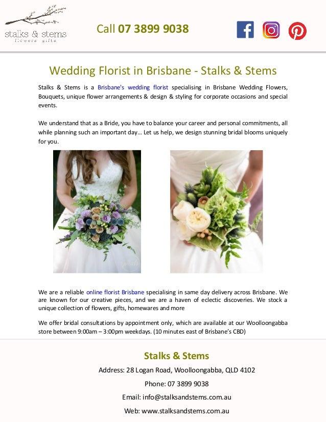 Wedding Florist In Brisbane Stalks Stems Stalks Stems Is A Brisbanes Wedding Florist