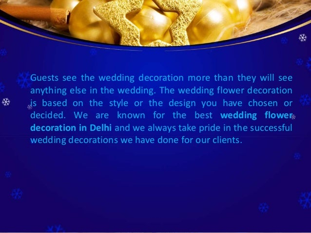 Guests see the wedding decoration more than they will see anything else in the wedding. The wedding flower decoration is b...