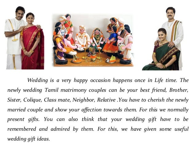 Wedding Gift Ideas For Couples: Wedding Gift Ideas For Tamil Matrimony Couples
