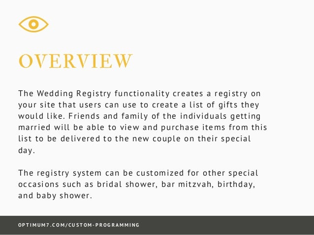 How Many Gifts To Register For Wedding: Wedding Gift Registry System