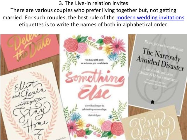 Wedding Invitation Addressing Guide From The Feminist Prospective