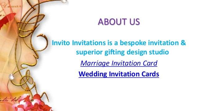 Wedding invitation cards marriage invitation card invitation cards 3 about us invito invitations is a bespoke invitation superior gifting design studio marriage invitation card stopboris Images
