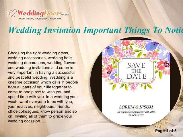 wedding invitation notice
