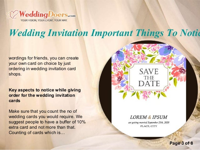 Wedding invitation important things to notice – Wedding Invitation Card Software
