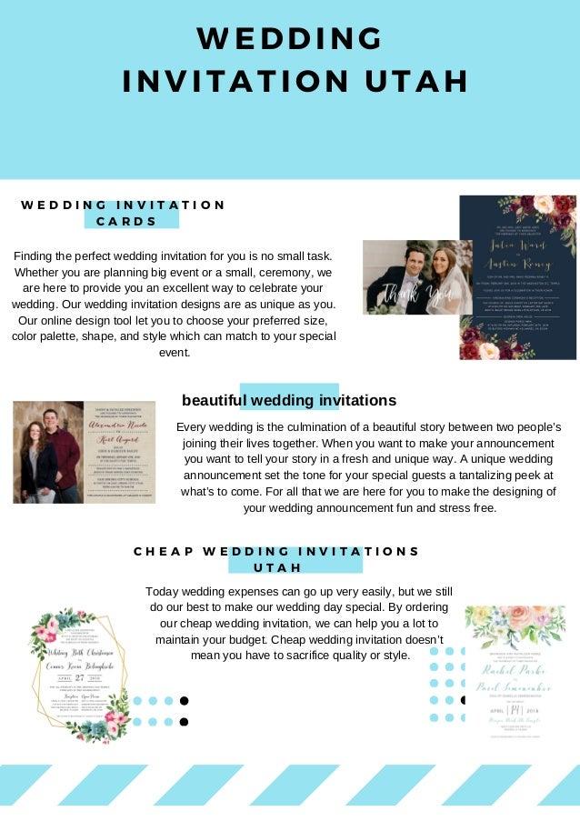 Wedding Invitation Utah