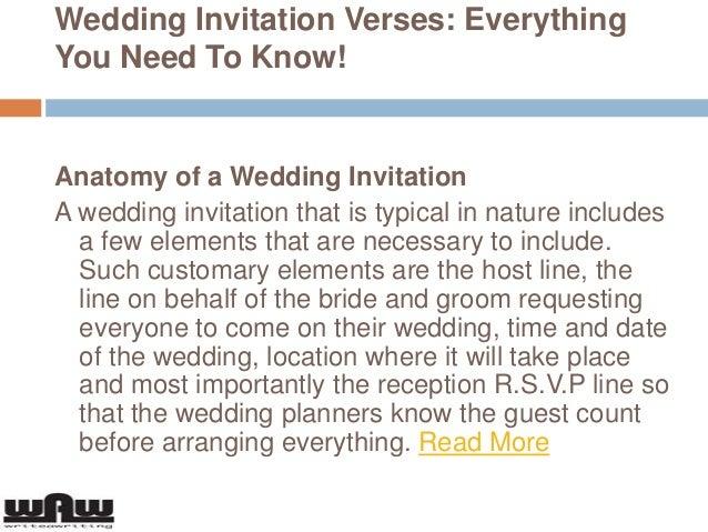 Wedding Invitation Wording Bride And Groom Hosting: Wedding Invitation Verses Everything You Need To Know