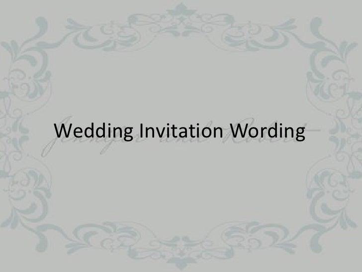 What Should My Wedding Invitation Say: Wedding Invitation Wording
