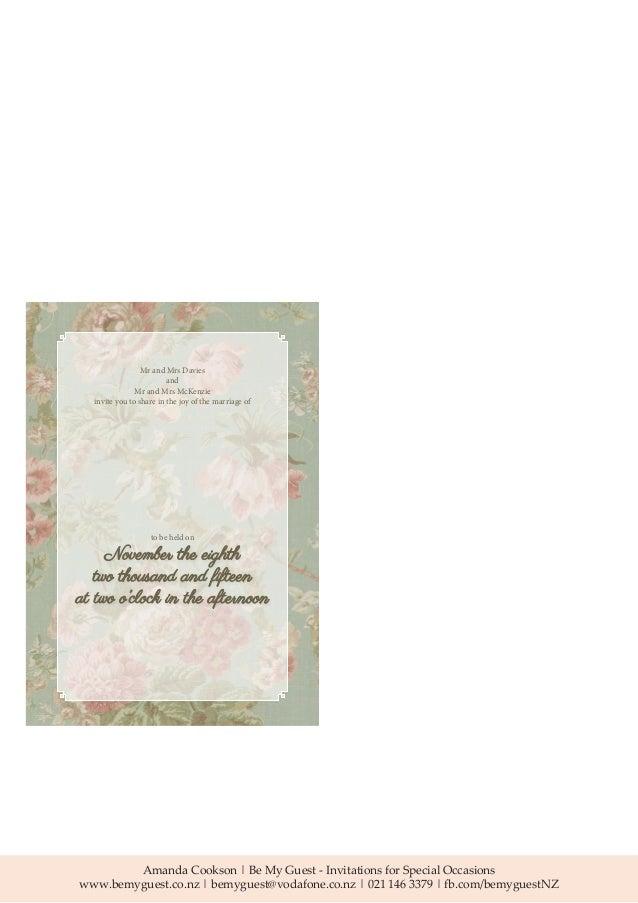 Wedding invitation wording and etiquette guide impression 4 stopboris Choice Image