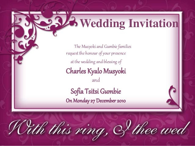 Wedding invite powerpoint replace picture with your own 4 wedding invitation stopboris Images