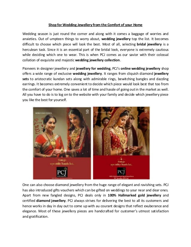 Shop for Wedding Jewellery from the Comfort of your HomeWedding season is just round the corner and along with it comes a ...