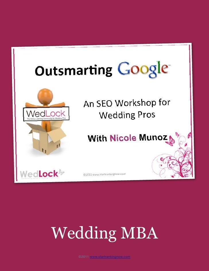 gggWedding MBA  ©2011 www.startrankingnow.com