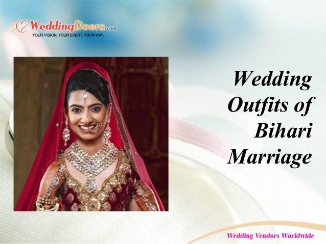 Wedding Outfits of Bihari Marriage