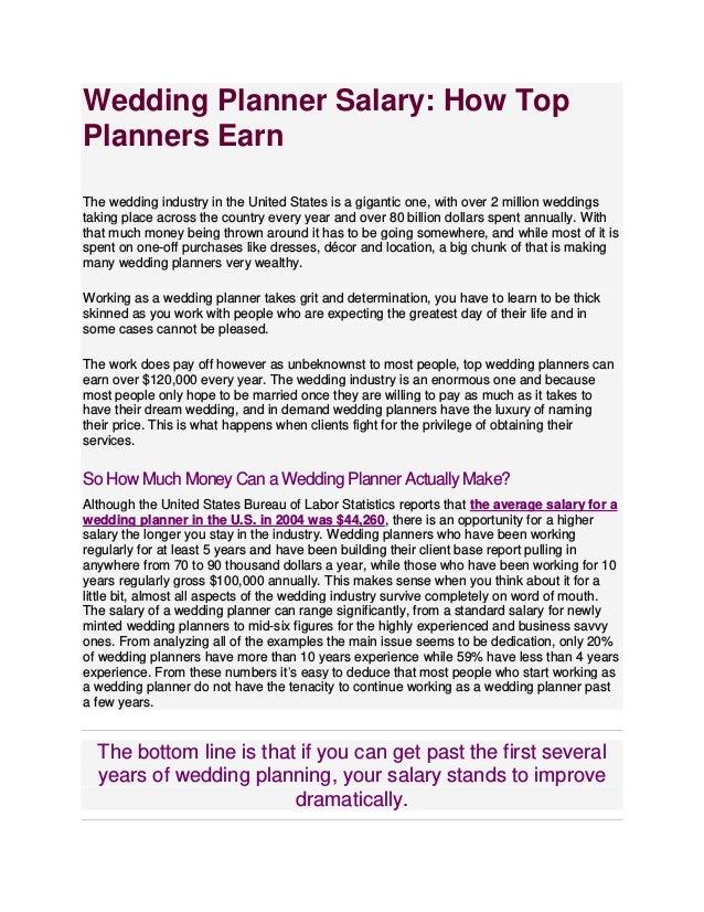 Wedding Planner Salary.Wedding Planning Singularies Events