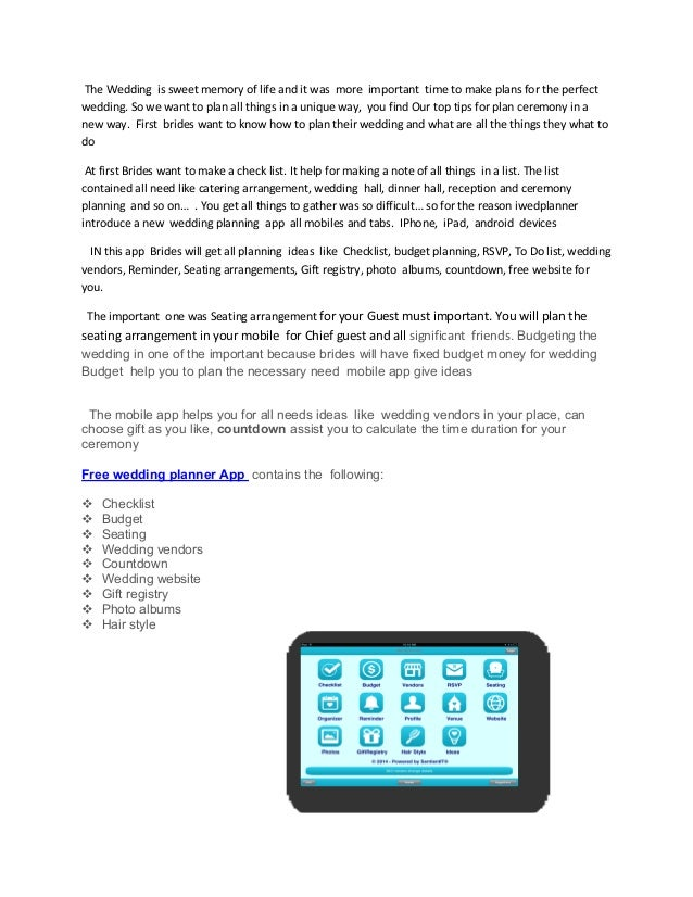 top and free wedding planning ipad app iphone wedding apps