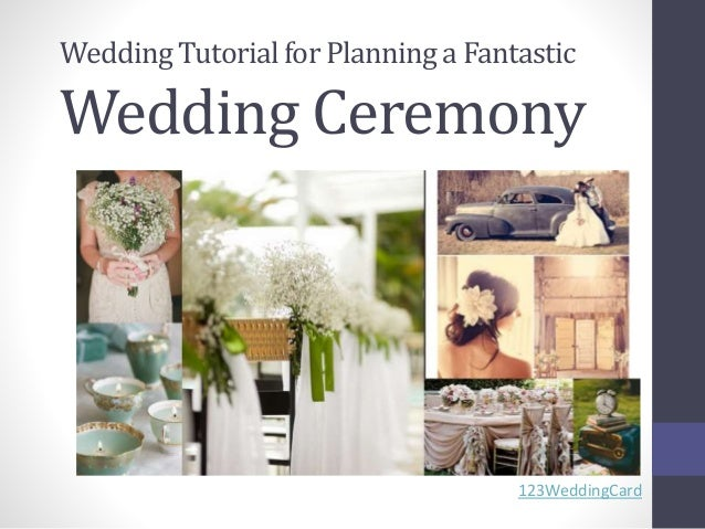 Wedding Planning Tutorial