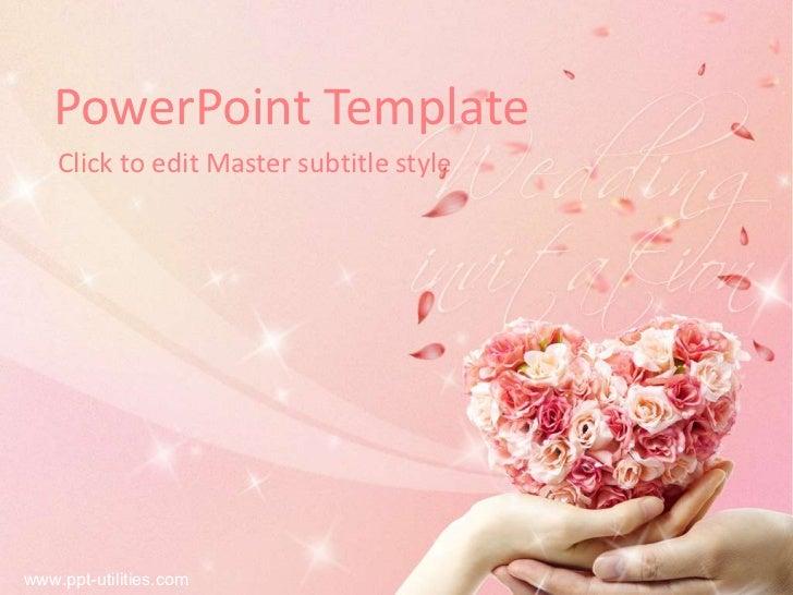 Free wedding ppt template powerpoint template click to edit master subtitle styleppt utilities toneelgroepblik Choice Image