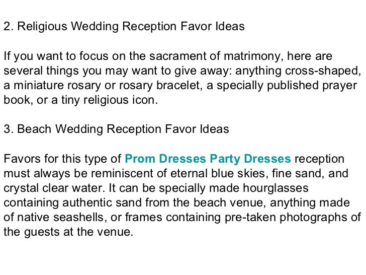 Wedding Reception 5 Favor Ideas To Wow Your Guests