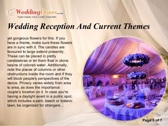 Wedding Reception And Current Themes 6
