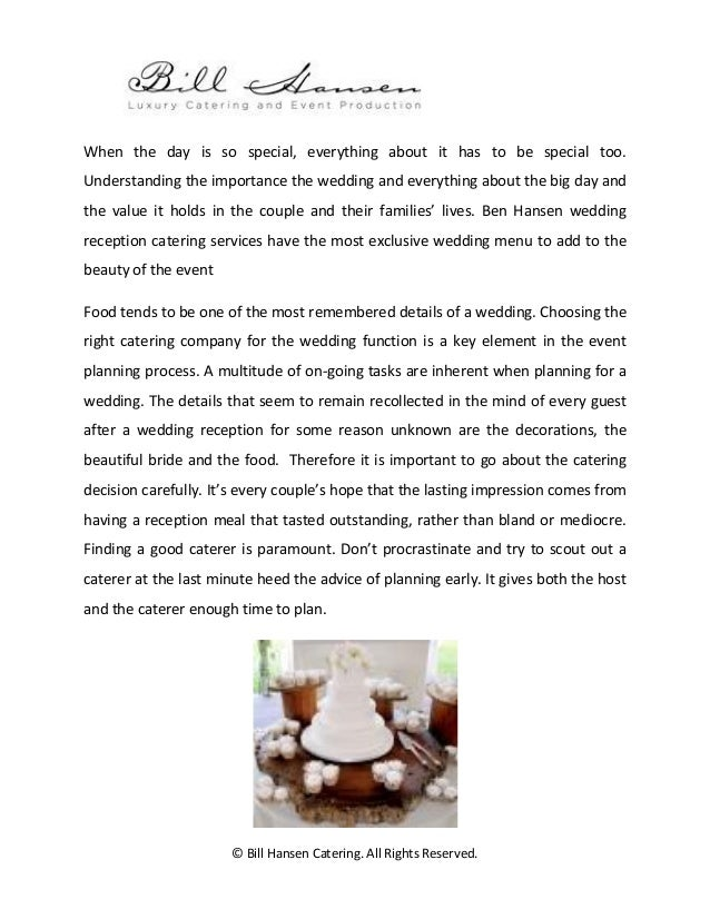 Wedding Reception Catering The Best Food For The Most Important Day