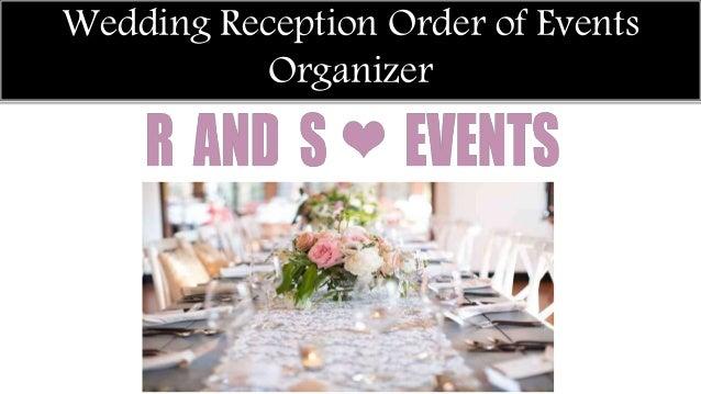 Wedding Reception Order Of Events Organizer