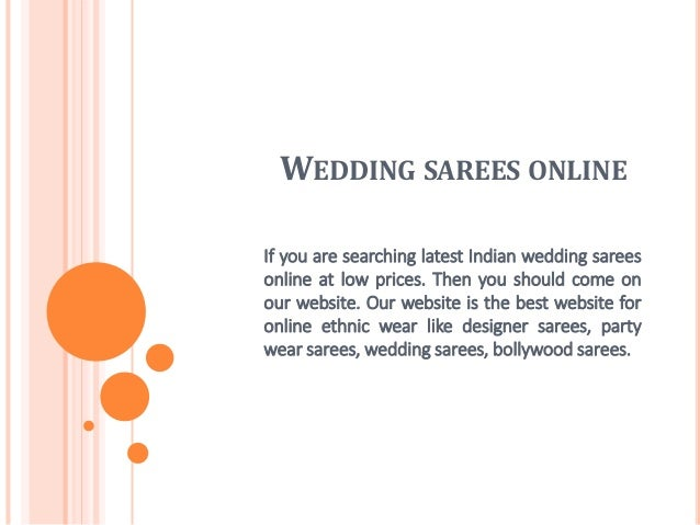 WEDDING SAREES ONLINE If you are searching latest Indian wedding sarees online at low prices. Then you should come on our ...