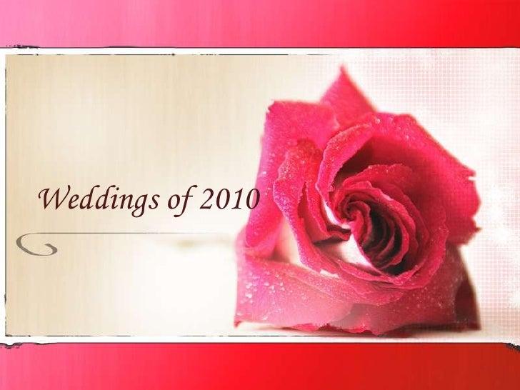 Weddings of 2010<br />