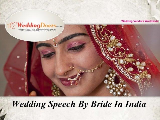 Wedding Speech By Bride In India Wedding Vendors Worldwide