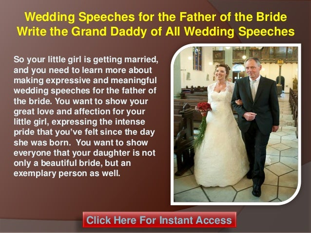 Wedding Speeches For The Father Of The Bride Write The