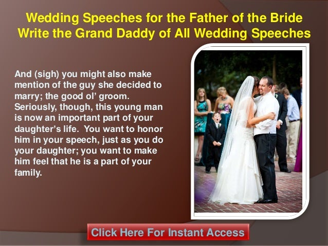 Wedding Day Speeches Father Of The Bride: Wedding Speeches For The Father Of The Bride Write The