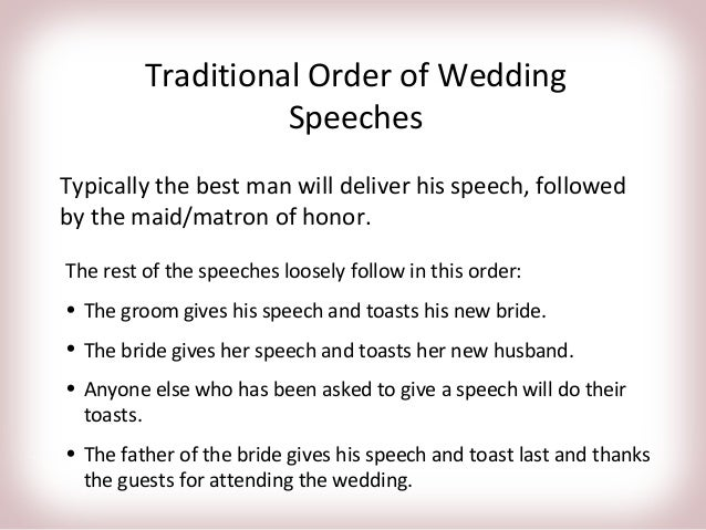 Wedding Speeches Trade Me