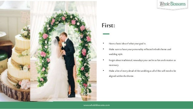 Get Ideas For Selecting The Wedding Theme