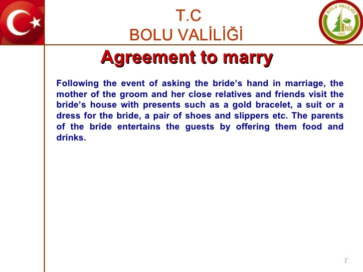 Following the event of asking the bride's hand in marriage, the mother of the groom and her close relatives and friends vi...