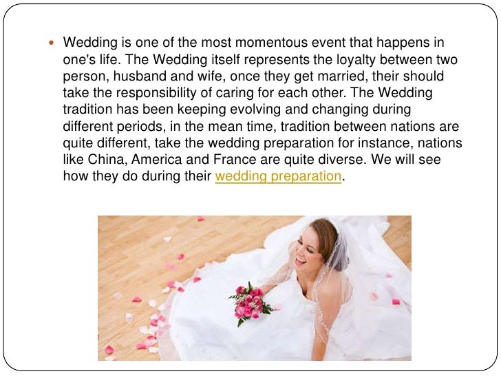  Wedding is one of the most momentous event that happens in  ones life. The Wedding itself represents the loyalty between...