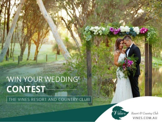 'WinYourWedding' Contest-TheVines ResortandCountry Club