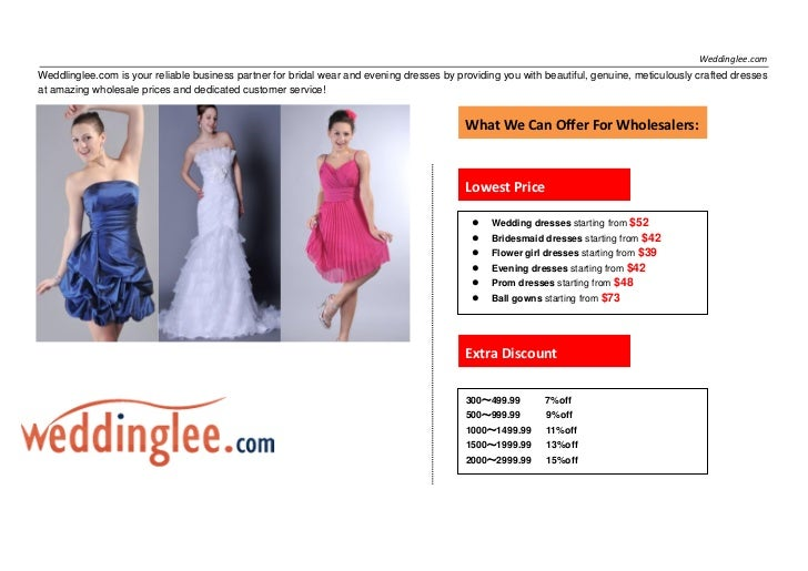 Weddinglee.comWeddlinglee.com is your reliable business partner for bridal wear and evening dresses by providing you with ...