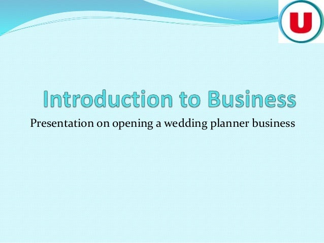 wedding planning business presentation