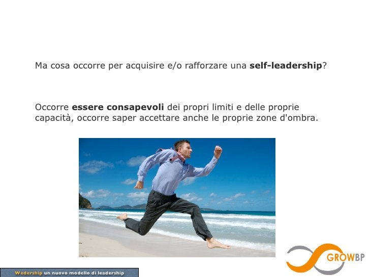 Ma cosa occorre per acquisire e/o rafforzare una self-leadership?       Occorre essere consapevoli dei propri limiti e del...