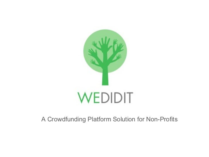 A Crowdfunding Platform Solution for Non-Profits