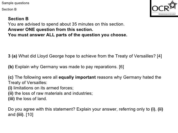 how far do you agree with the statement the treaty of versailles was unfair for germany essay I am happy that you are using this web site and hope that you found it  to  destroy the treaty of versailles imposed on germany after her defeat in world  war one hitler felt the treaty was unfair and most germans supported this view   hitler had no intention of honouring the agreement in the long term.