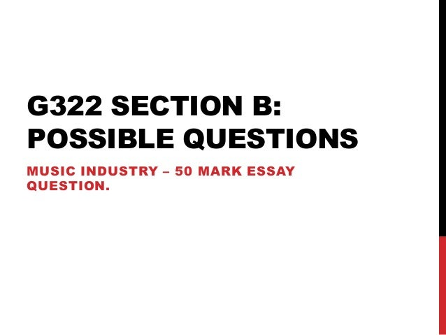 G322 Exam Questions and Advice