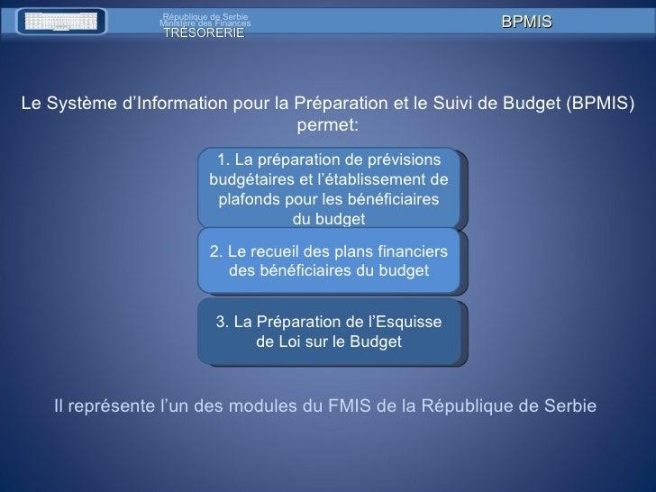 1. La pr é paration de pr é visions budg é taires et l' é tablissement de plafonds pour les b é n é ficiaires du budget 2 ...