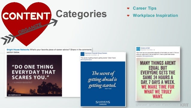 @AdrianaK @KRTweet #TalentConnect Categories 293 201 ❤ Career Tips ❤ Workplace Inspiration ❤ Interaction