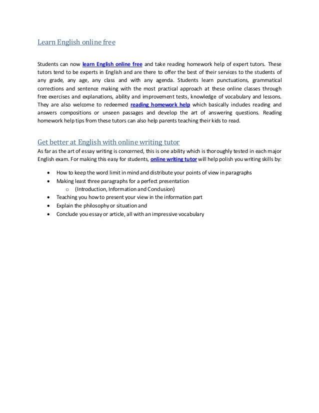 Homework help english online free