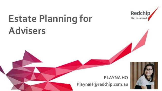 Estate Planning for Advisers Slide 2