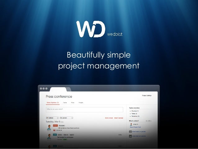 Beautifully simpleproject management