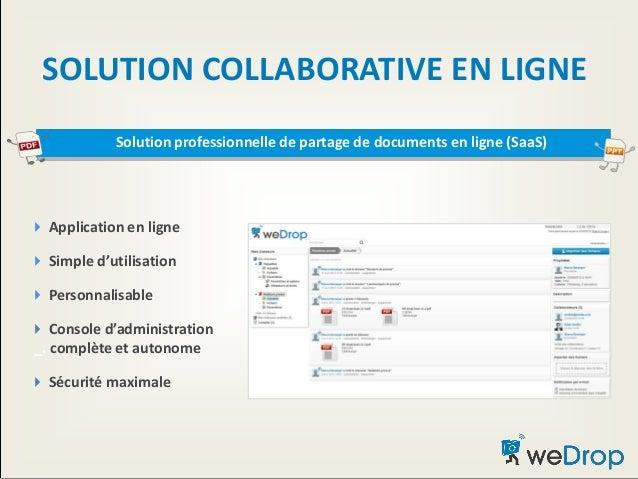SOLUTION COLLABORATIVE EN LIGNE  Application en ligne  Simple d'utilisation  Personnalisable  Console d'administration...