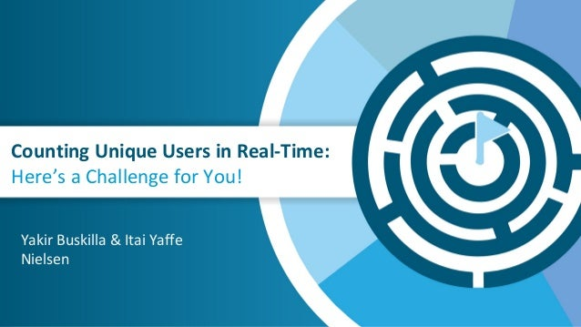 Counting Unique Users in Real-Time: Here's a Challenge for You! Yakir Buskilla & Itai Yaffe Nielsen
