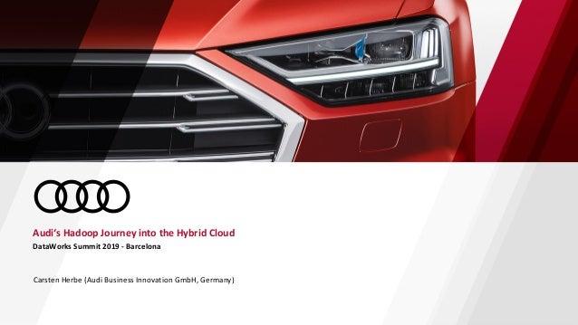 DataWorks Summit 2019 - Barcelona Audi's Hadoop Journey into the Hybrid Cloud Carsten Herbe (Audi Business Innovation GmbH...