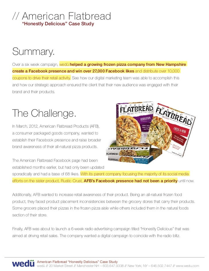 """// A merican Flatbread         """"Honestly Delicious"""" Case StudySummary.Over a six week campaign, wedü helped a growing froz..."""