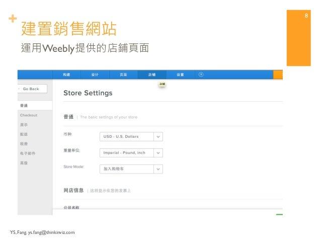 +  YS, Fang. ys.fang@thinkinviz.com  建立銷售網站  7